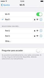 Apple iPhone 6s iOS 10 - WiFi - Conectarse a una red WiFi - Paso 7