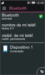 Nokia Asha 311 - Connection - Conectar dispositivos a través de Bluetooth - Paso 10