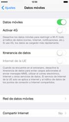Apple iPhone 6 iOS 8 - Internet - Configurar Internet - Paso 5