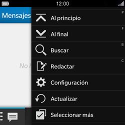 BlackBerry Q5 - MMS - Configurar el equipo para mensajes de texto - Paso 4