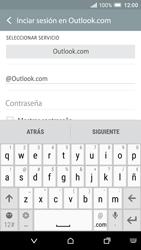 HTC One A9 - E-mail - Configurar Outlook.com - Paso 7