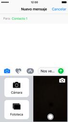 Apple iPhone 5s iOS 10 - MMS - Escribir y enviar un mensaje multimedia - Paso 11