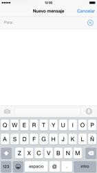Apple iPhone 6 iOS 8 - MMS - Escribir y enviar un mensaje multimedia - Paso 4