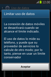 Samsung S6310 Galaxy Young - Internet - Ver uso de datos - Paso 9