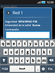 Samsung S5570 Galaxy Mini - WiFi - Conectarse a una red WiFi - Paso 8