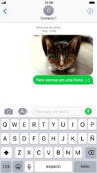 Apple iPhone 6s iOS 11 - MMS - Escribir y enviar un mensaje multimedia - Paso 16