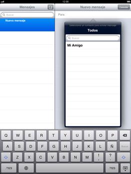 Apple iPad 2 - MMS - Escribir y enviar un mensaje multimedia - Paso 5