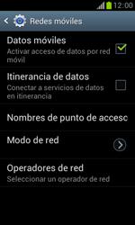 Samsung S7560 Galaxy Trend - Internet - Activar o desactivar la conexión de datos - Paso 6
