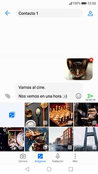 Huawei P10 Plus - MMS - Escribir y enviar un mensaje multimedia - Paso 17