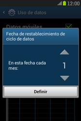 Samsung S6310 Galaxy Young - Internet - Ver uso de datos - Paso 7
