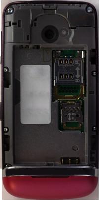 Nokia Asha 311 - Primeros pasos - Quitar y colocar la batería - Paso 3