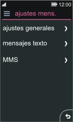 Nokia Asha 311 - MMS - Configurar el equipo para mensajes de texto - Paso 5