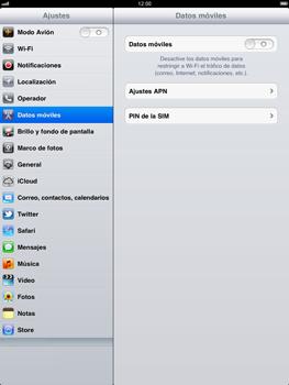 Apple iPad 2 - Internet - Configurar Internet - Paso 3