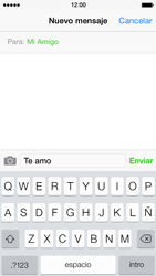 Apple iPhone 5s - MMS - Escribir y enviar un mensaje multimedia - Paso 8