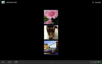 Samsung P7500 Galaxy Tab 10-1 - MMS - Escribir y enviar un mensaje multimedia - Paso 12