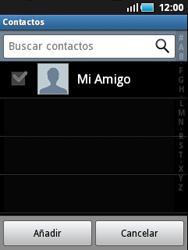 Samsung S5570 Galaxy Mini - E-mail - Escribir y enviar un correo electrónico - Paso 6