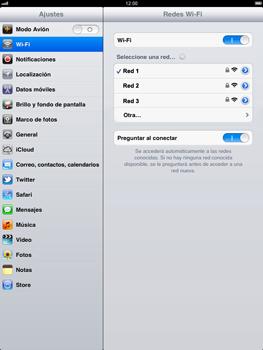 Apple iPad 2 - WiFi - Conectarse a una red WiFi - Paso 7