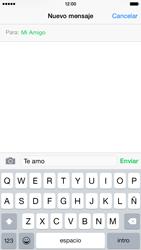 Apple iPhone 6 iOS 8 - MMS - Escribir y enviar un mensaje multimedia - Paso 8
