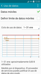 Samsung A500FU Galaxy A5 - Internet - Ver uso de datos - Paso 5