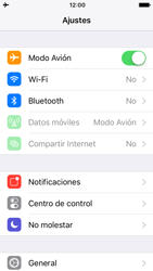 Apple iPhone 5s iOS 10 - Red - Activar o desactivar el modo avión - Paso 4