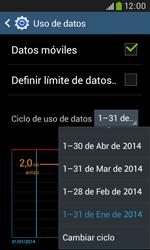 Samsung S7580 Galaxy Trend Plus - Internet - Ver uso de datos - Paso 6