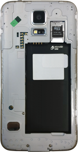 Samsung G900F Galaxy S5 - Primeros pasos - Quitar y colocar la batería - Paso 6
