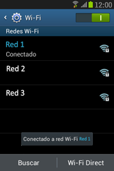 Samsung S6310 Galaxy Young - WiFi - Conectarse a una red WiFi - Paso 8
