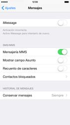Apple iPhone 6 iOS 8 - MMS - Configurar el equipo para mensajes multimedia - Paso 12