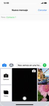 Apple iPhone X - MMS - Escribir y enviar un mensaje multimedia - Paso 11