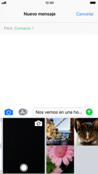 Apple iPhone 6s iOS 11 - MMS - Escribir y enviar un mensaje multimedia - Paso 10