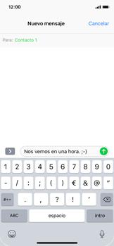 Apple iPhone X - MMS - Escribir y enviar un mensaje multimedia - Paso 8