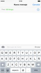 Apple iPhone 6 iOS 8 - MMS - Escribir y enviar un mensaje multimedia - Paso 7