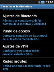 Samsung S5570 Galaxy Mini - MMS - Configurar el equipo para mensajes multimedia - Paso 5