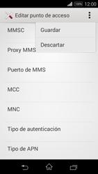 Sony D2203 Xperia E3 - MMS - Configurar el equipo para mensajes multimedia - Paso 15