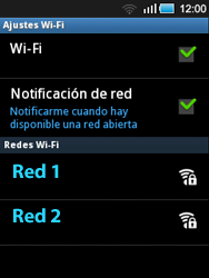 Samsung S5570 Galaxy Mini - WiFi - Conectarse a una red WiFi - Paso 7