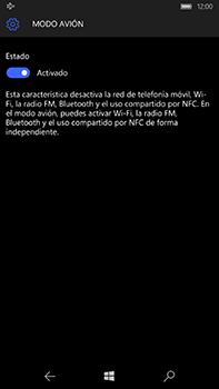 Microsoft Lumia 950 XL - Red - Activar o desactivar el modo avión - Paso 7