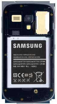 Samsung S7580 Galaxy Trend Plus - Primeros pasos - Quitar y colocar la batería - Paso 4