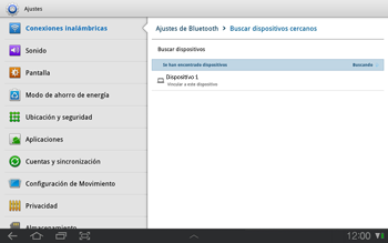 Samsung P7500 Galaxy Tab 10-1 - Connection - Conectar dispositivos a través de Bluetooth - Paso 8