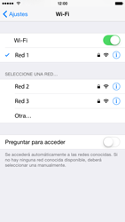 Apple iPhone 6 iOS 8 - WiFi - Conectarse a una red WiFi - Paso 7