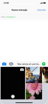 Apple iPhone X - MMS - Escribir y enviar un mensaje multimedia - Paso 10