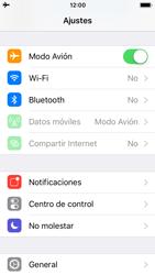 Apple iPhone SE - iOS 11 - Red - Activar o desactivar el modo avión - Paso 4