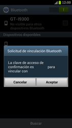 Samsung I9300 Galaxy S III - Connection - Conectar dispositivos a través de Bluetooth - Paso 7