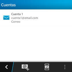 BlackBerry Q5 - E-mail - Configurar correo electrónico - Paso 5