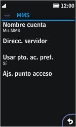 Nokia Asha 311 - MMS - Configurar el equipo para mensajes multimedia - Paso 8
