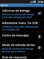 Samsung S5570 Galaxy Mini - MMS - Configurar el equipo para mensajes de texto - Paso 4