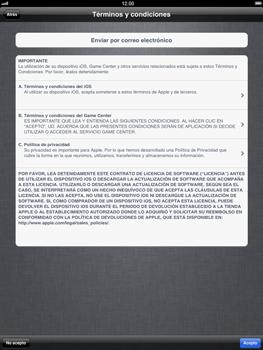 Apple iPad 2 - Primeros pasos - Activar el equipo - Paso 13