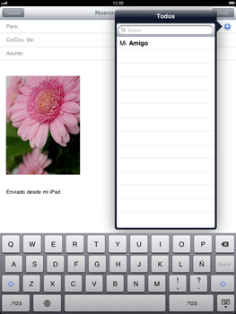 Apple iPad 2 - E-mail - Escribir y enviar un correo electrónico - Paso 8