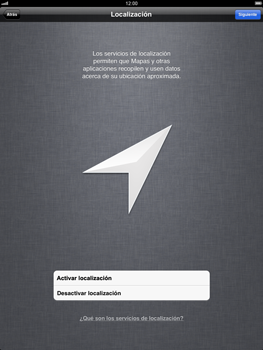 Apple iPad 2 - Primeros pasos - Activar el equipo - Paso 5