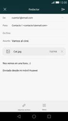 Huawei Ascend G7 - E-mail - Escribir y enviar un correo electrónico - Paso 15