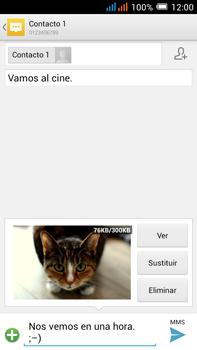 Alcatel Pop C9 - MMS - Escribir y enviar un mensaje multimedia - Paso 19